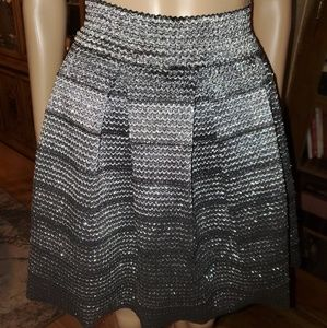 Charlotte Russe, Size Small black & Silver skirt.